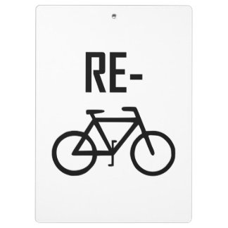 Recycle Bicycle Bike Clipboard