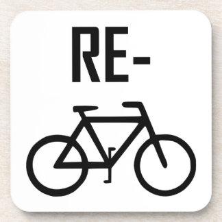 Recycle Bicycle Bike Coaster