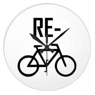 Recycle Bicycle Bike Large Clock