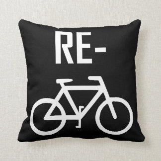 Recycle Bicycle Bike Throw Pillow