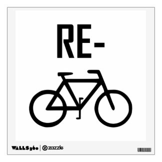 Recycle Bicycle Bike Wall Sticker