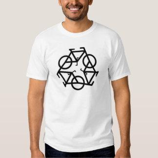 Recycle Bicycle Logo Symbol Tee Shirt