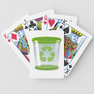 Recycle Bin Bicycle Playing Cards