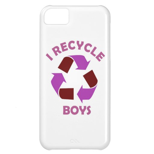 recycle boys funny text humor message pink iPhone 5C cases
