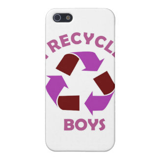 recycle boys funny text humor message pink cover for iPhone 5/5S