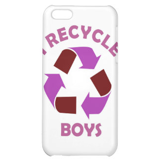 recycle boys funny text humor message pink cover for iPhone 5C