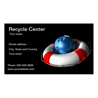 Recycle Center business card