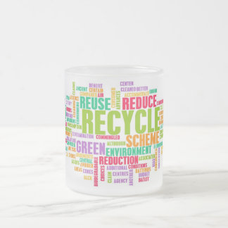Recycle Concept Frosted Glass Coffee Mug