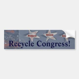 Recycle Congress! Bumper Sticker