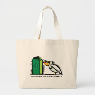 """""""Recycle, Conserve"""" Canvas Bag"""