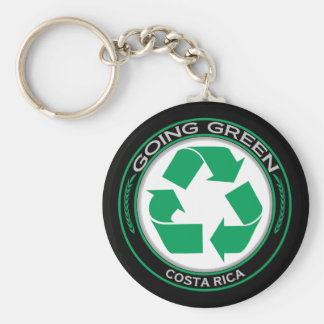Recycle Costa Rica Basic Round Button Keychain