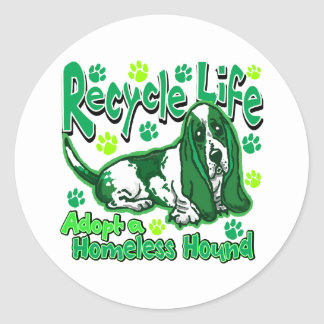 Recycle Dog Classic Round Sticker