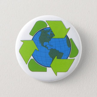 recycle earth 2 inch round button