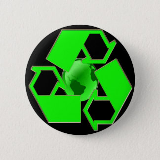 Recycle Earth 2- Save the Earth- Go Green 2 Inch Round Button