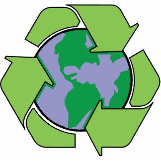 Recycle Earth Acrylic Key Chain Acrylic Cut Out