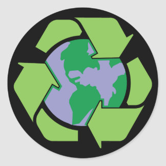 Recycle Earth Round Sticker