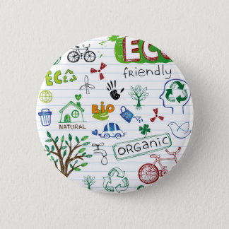 Recycle Eco Friendly 2 Inch Round Button