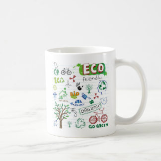 Recycle Eco Friendly Classic White Coffee Mug