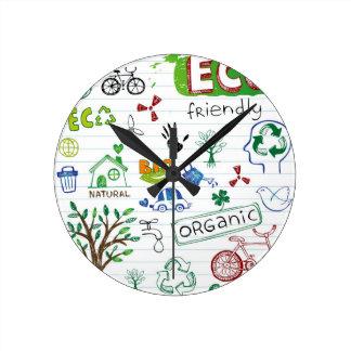 Recycle Eco Friendly Round Clocks