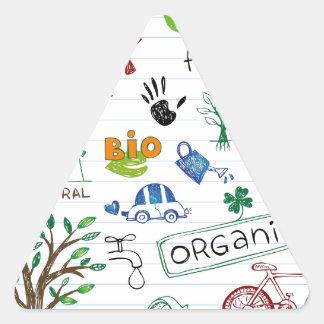 Recycle Eco Friendly Triangle Sticker