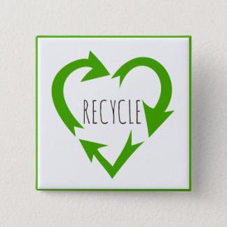 Recycle, Environmental Button