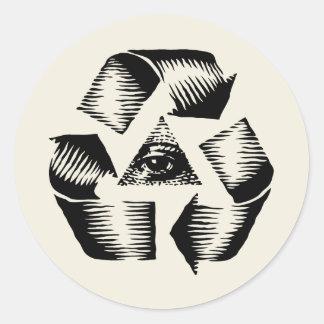 Recycle Eye Classic Round Sticker