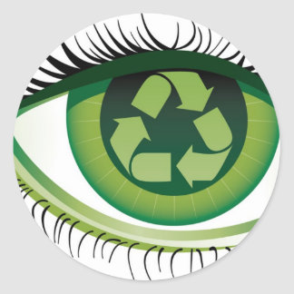 Recycle Eye Classic Round Sticker