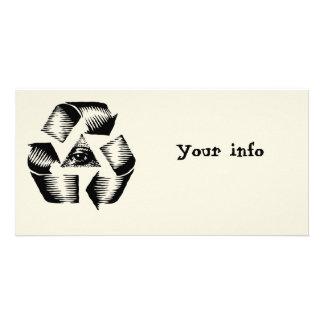 Recycle Eye Customized Photo Card