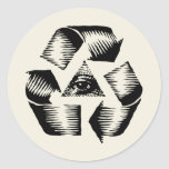 Recycle Eye Round Stickers