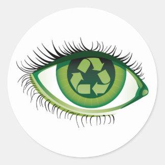 Recycle Eye Sticker