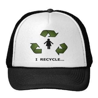 recycle girls trucker hat