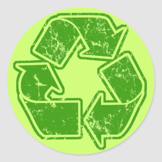 Recycle Graphic Vintage Sticker