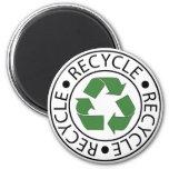Recycle Green Centre Logo Fridge Magnet