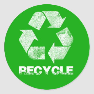 Recycle Green Vintage Stickers