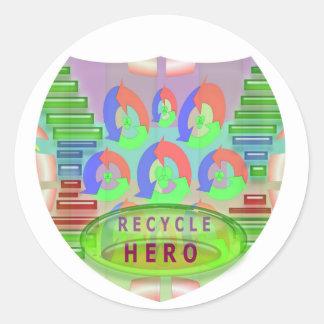 RECYCLE HERO AWARD - Encourage Now Round Sticker