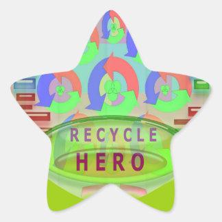 RECYCLE HERO AWARD - Encourage Now Star Sticker