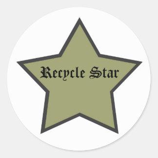 Recycle Like a Rockstar Round Sticker