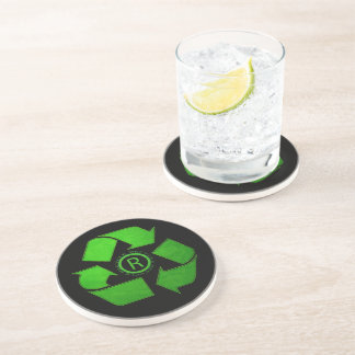 Recycle Logo by Shirley Taylor Coaster