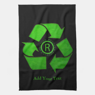 Recycle Logo by Shirley Taylor Kitchen Towel