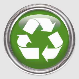 Recycle Logo set of 6 20 Round Stickers
