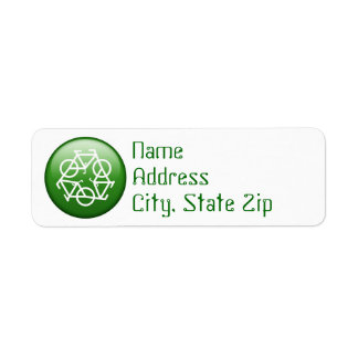 Recycle Logo w/ Bicycles Labels