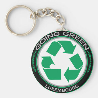 Recycle Luxembourg Basic Round Button Keychain