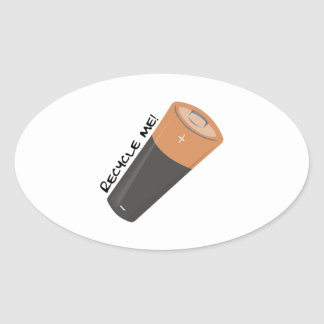 Recycle Me Oval Sticker