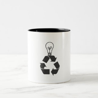 Recycle Mind Two-Tone Coffee Mug