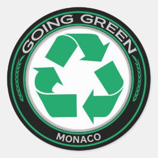 Recycle Monaco Round Sticker