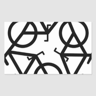 recycle motion of bike and life sticker