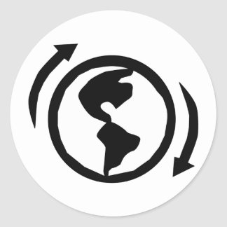 Recycle Now. Classic Round Sticker