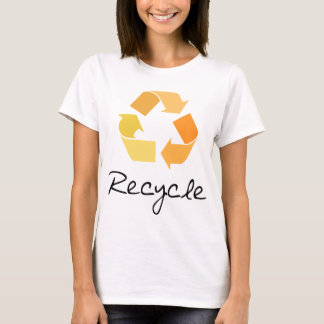 Recycle! Orange design! Ecology products! T-Shirt
