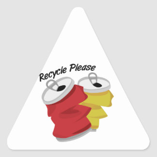 Recycle Please Triangle Sticker