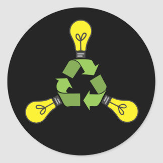 Recycle Power (Color) Stickers